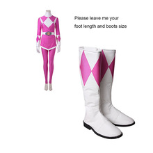 Buy Cosplay Boots Shoes Mei Ptera Ranger Zyuranger Cosplay Costume Accessories White Pink Props Adult Women Halloween for $48.58 in AliExpress store
