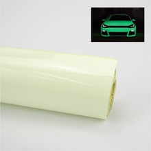 124x30cm Car Green Luminous Glow Vinyl Wrap Film Glue PVC Sticker With Bubble Free High Energy Photoluminescent Glow In The Dark