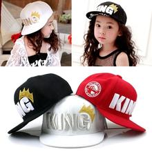 "Children Kids Hip Hop ""King Queen ""Letters Print Cap Fashion Baseball Caps Hat Adjustable Boys Girls Hat"