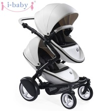 i-baby Luxury Kobi Baby Double Stroller High Landscape Portable Lightweight Foldable Baby Pram Pushchairs Kinderwagen(China)