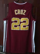 USA Shipping Timo Cruz 22 Richmond Oilers Home Basketball Jersey Double Stitched Jersey Color Red S M L XL XXL XXXL(China)