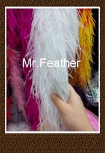 Free Shipping 4 meters White Ostrich Feather Boas Ostrich Feather Scarf Ostrich Feather Fringes for Party Decorations