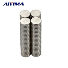 AIYIMA 100pcs N35 D10*2mm Strong Round Dia Magnets 10x2 Rare Earth Neodymium Magnets 10mm*2mm Counter Magnetic Tape Crafts