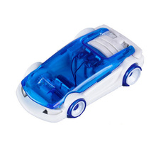Novelty Creative Children Toys Action Figure Salt Water Car Educational Toy DIY Brine Powered Cars Christmas Birthday Gifts(China)