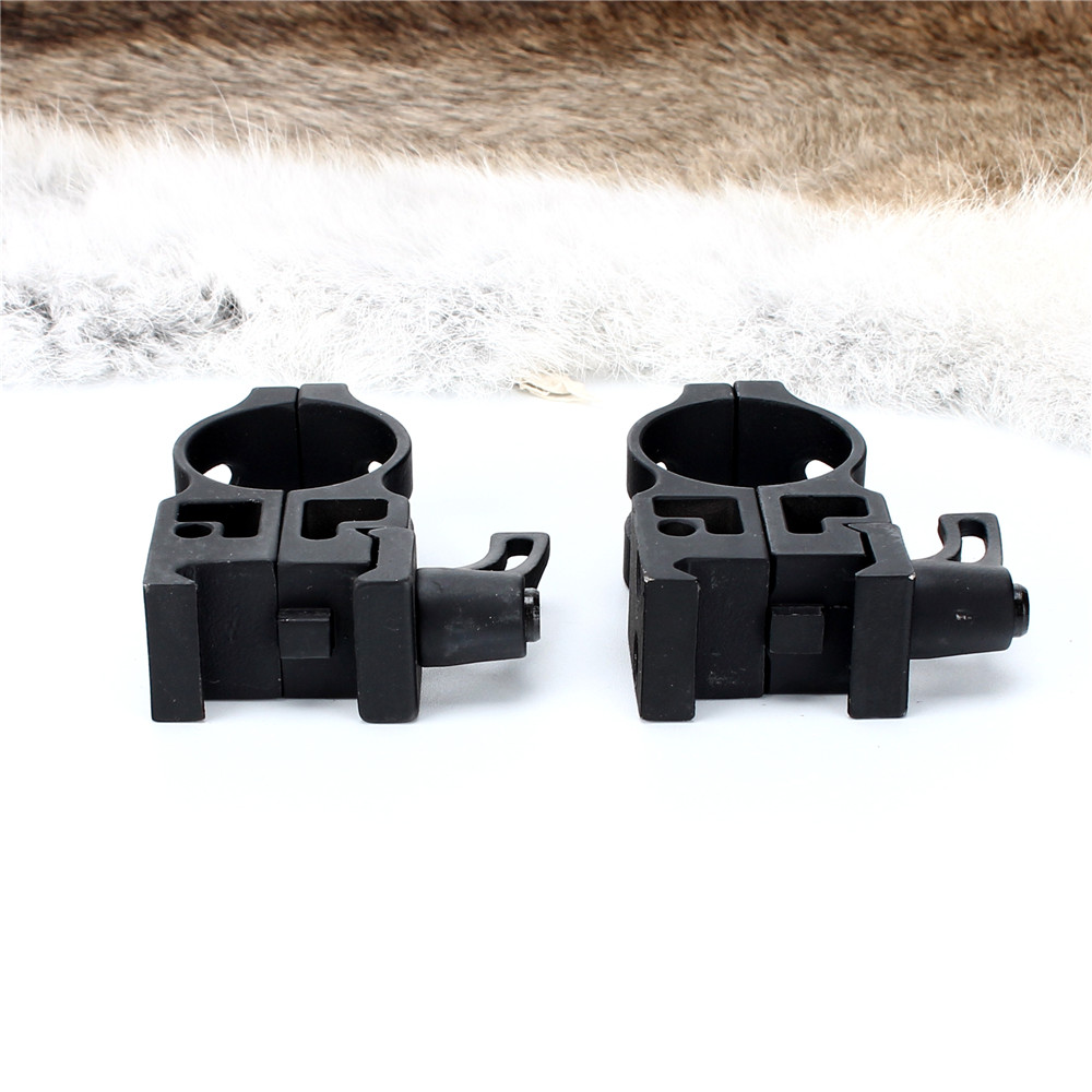 ohhunt 25.4mm 1 inch 2PCs High Profile Cast Steel Quick Release Picatinny Weaver Scope Mounts Rings Tactical Hunting Accessories (3)