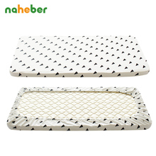Baby Crib Fitted Sheet 100% Cotton Cute Pattern Cot Bed Sheets Newborn Baby Bedding Soft Mattress Cover Protector Two Size(China)