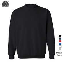 Fleece Fabric Warm Men Plain Black White Sweatshirts Long Sleeve Elegant Warm Winter Pullover Vintage O-neck Casual Tops