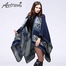 [AETRENDS] 2016 New Winter Cashmere Scarf Women Poncho Blanket Cape Shawls Coat Z-3159