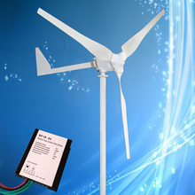 High Efficiency 500W 24V/48V Wind Turbine with 3PCS Blades + 1KW 24V/48V Wind Controller, CE/ROHS Certificate