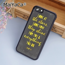 MaiYaCa Coldplay Lyrics Song Music protective Print Soft TPU Mobile Phone Case Funda For iPhone 5 5S SE Back Cover Skin(China)