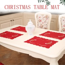 43x8cm Table Mats Christmas Decoration Santa Clause Bell Plate Mat Set Kitchen for Xmas Home Restaurant Dector Hot S2017415(China)