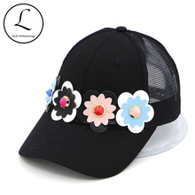 GZHILOVINGL Women's Baseball Caps 4 Daisies Hats Grids Snapback Cap Visor Brand Caps for Adult Russia Wholesale 70417(China)