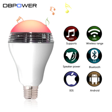 Wireless Bluetooth Light Speaker E27 RGB 6W LED Bulb Bluetooth 4.0 APP Smart Lighting Lamp Colorful Dimmable Speaker Lights Bulb(China)