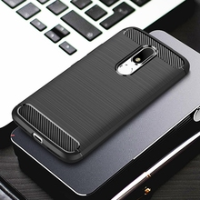 For Motorola Moto M Case Silicone Shell Carbon Fiber Shockproof Armor Phone Bag Case For Motorola Moto M For Moto M Case Holder(China)