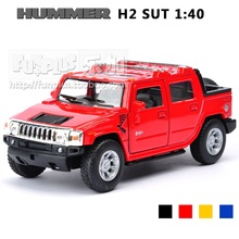 High Simulation Exquisite Model Toys KiNSMART Car Styling Hummer H2 SUT Pickup Trucks Model 1:40 Alloy Car Model Excellent Gifts(China)