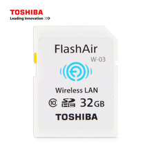 TOSHIBA W-03 WIFI SD Card 32GB 16GB WI-FI FlashAir Memory SD Card Class 10 SDHC Flash Memory wifi SD Card(China)