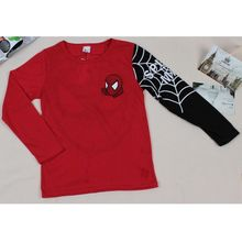 Autumn Winter Cotton Kids T Shirt Cool Spider-Man Long Sleeve Baby Boys T-Shirt Children Pullovers Tee Boys Clothes