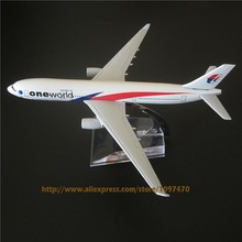 16cm Metal Alloy Plane Model Air Malaysia One World Airlines A330 Airways Aircraft Airbus 330 Airplane Model w Stand  Gift