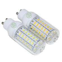 High brightness GU10 SMD 5730 LED lamp AC220V 110V Warm white/white 5730 LED Corn Bulb Light