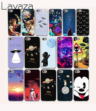 Lavaza 59O astronaut Space Aliens Hard Case for iPhone 7 8 6 6s 7 Plus X 10 5 5s SE 5C 4 4s fundas(China)