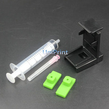 Ink Cartridge Clamp Absorption Clip Pumping refill tool for Lexmark 26 16 HP 21,22 60 61 56 57 74 75 901 121 300 PG40 50 830
