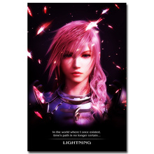 Lightning - Final Fantasy XIII Art Silk Fabric Poster Print 13x20 24x36 inch Hot Game Pictures for Living Room Wall Decor 005