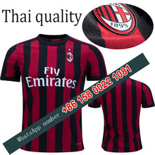 2017 2018 ac Milan jersey 17 18 Home Away football camisetas Thai AAA shirt survetement football Soccer jersey(China)