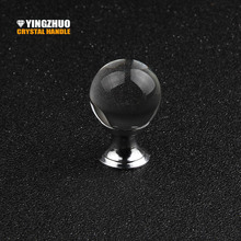 25mm Smooth Crystal Glass Ball Handle Furniture Accessories Hot Metal Decoration Cabinet Drawer Dresser Computer Table Knob