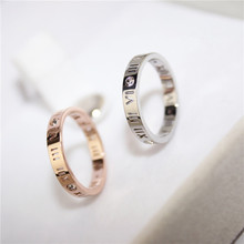 YUN RUO Rose Gold Silver Colors Roman Numeral Rings for Woman Girl Wedding Jewelry 316 L Stainless Steel Prevent Fade in Bath(China)