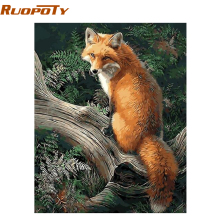 RUOPOTY Picture Fox Animals DIY Painting By Numbers Modern Wall Art Canvas Painting For Unique Gift Home Wall Artwork 40x50cm