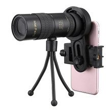 Best Deals 10-30x HD Telephoto Telescope Monocular Camera Lens with Clip Tripod Stand Night Vision Waterproof Telescopio Set
