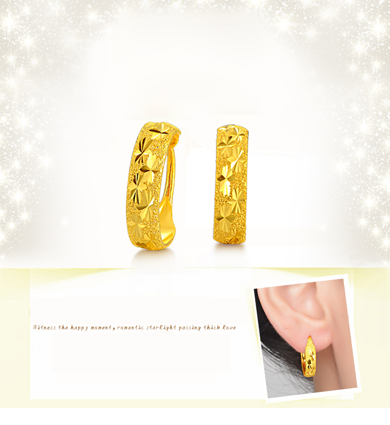 c9bddd26bcc0 24K Pure Gold Ohrring Echte 999 Solid Gold Ohrringe Schöne Gypsophila  Upscale Trendy Klassische Edlen Schmuck Hot Sell New 2018