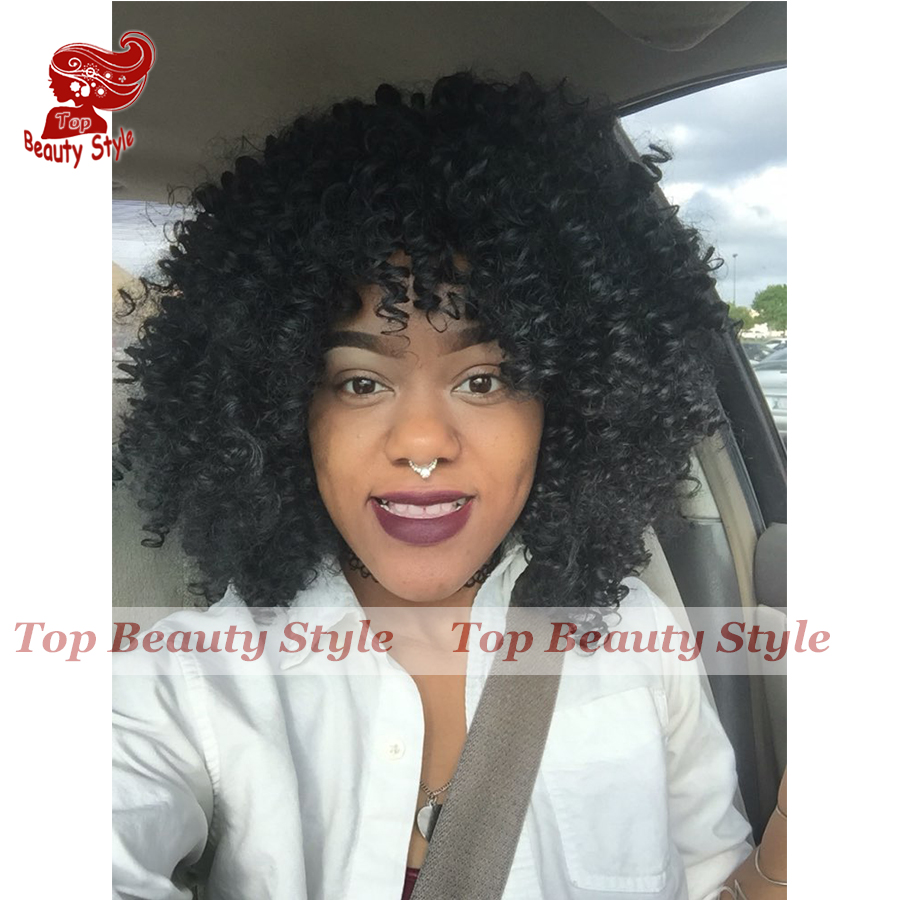 Cheap Hair Wigs Afro Kinky Curly Synthetic Wig With Baby Hair Heat Resistant Fiber Hair Wig For Black Women<br><br>Aliexpress