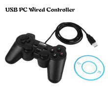 Portable Wired USB Game Controller Gamepad Gaming Joypad Joystick Control for XP Windows PC Computer Laptop Drop shipping Black