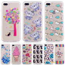 Stylish Printing Cartoon Cute panda Flower cactus Silicon Soft TPU+IMD Phone Case For Apple iphone 7 plus phoen Case(China)