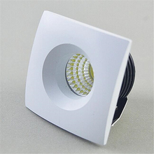 Free Shipping 10pcs Mini LED 5W COB Downlight AC85-265VLED COB Cabinet Light Jewelry Lamp Bookcase LED Ceiling