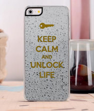keep calm and unlock life fashion original cover luxury case for iphone 4 4s 5 5s