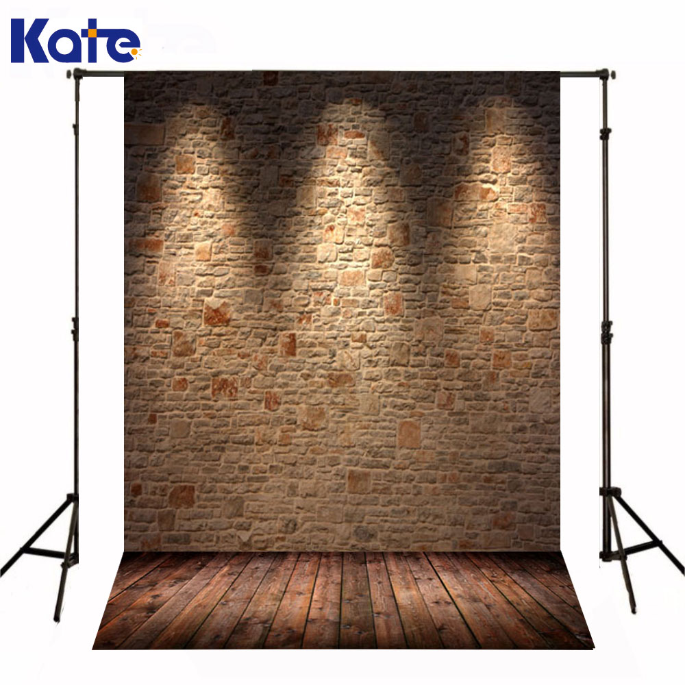 Kate Newborn Baby Background Photography Wood Floor Brick Wall Background  Yellow Light Fall  Backgrounds For Photo Shoot<br>