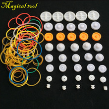 40pcs DIY Plastic Wheel Sets Pulley With Belt Rubber Band For Toy Model Car Plane Ship For DIY Accessories Scientific Experiment(China)