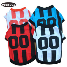 VUGSUCE Pet Dog Shirt Football Team Dog Jersey for Small Medium Dogs Sports Pet Clothes Costume Coat Spring for Puppy Yorkshire(China)