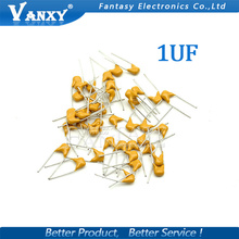 100PCS 1UF 20% 5.08MM 105 50V MLCC multilayer monolithic ceramic capacitor 0805