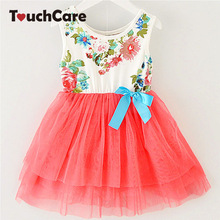 Girl Dress Summer New Floral Baby Girl Dress Princess TuTu Dress 8 Colors Infant Dresses Kids Clothing With Bow