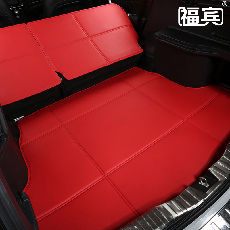 green 3D stereoscopic PU leather car trunk mats+backrest pads for Forest SubaruXV Outback non-slip waterproof  no odor<br><br>Aliexpress