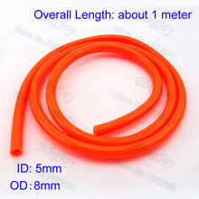 Fuel Line Hose Tube 5mm ID Orange For 50cc 110cc 125cc 140cc-160cc Pit Dirt Bike ATV Quad Go Kart Motorcycle Motocross Motorbike