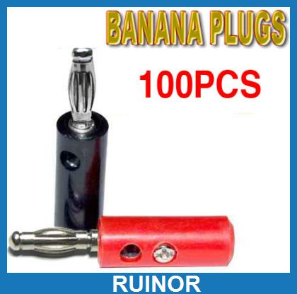 100pcs Banana Plug to Binding Post Speaker Amplifiers<br><br>Aliexpress