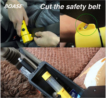 Multiple Functional Car Safety Hammer Emergency Hammer with Car Glass Breaker + Seat Belt Cutter+Beacon+Flashlight Free Shipping(China)