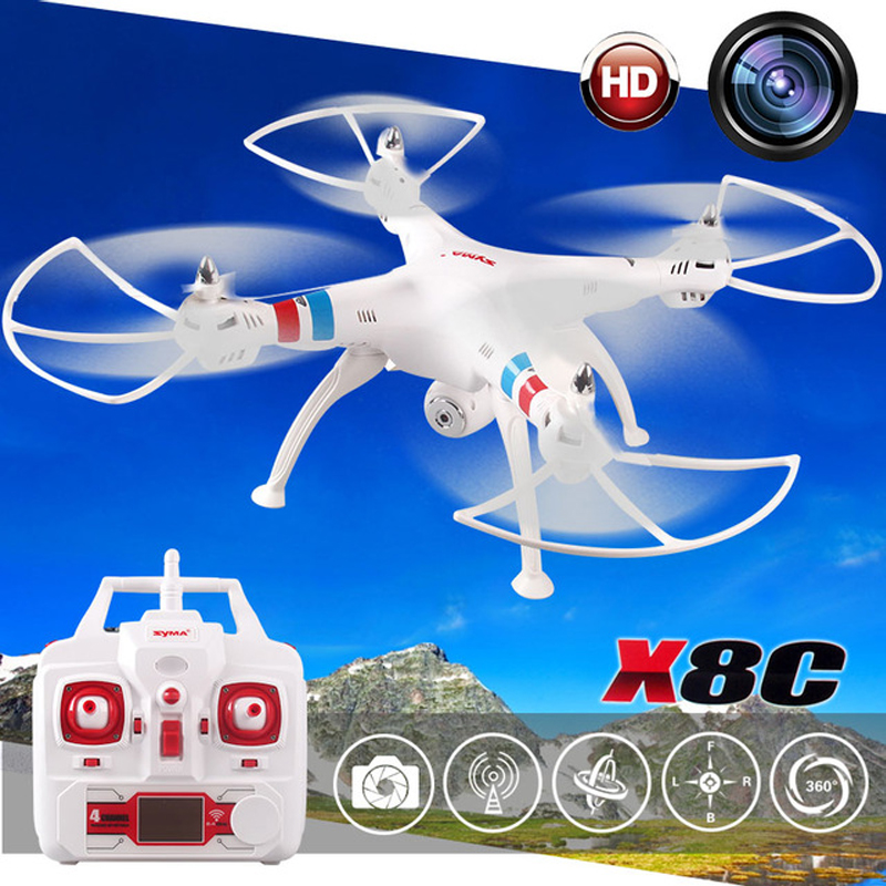Brand Professional SYMA X8C 2.4G 4CH 6 Axis with 2MP HD Camera Wide Angle RC Drone RTF RC Helicopter kvadrokopter<br><br>Aliexpress