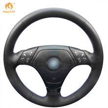 MEWANT Black Artificial Leather Car Steering Wheel Cover for BMW E36 E46 E39(China)