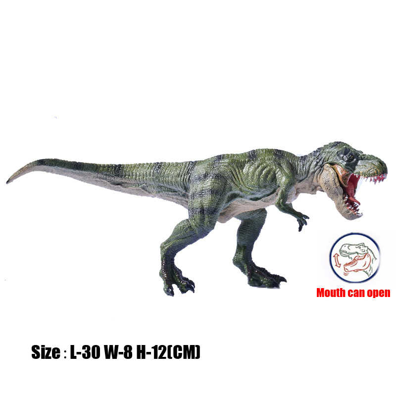 Prehistoric Jurassic World Walking Tyrannosaurus Rex T-Rex Mouth Can Open Solid PVC Model Action Figures Toys For Kids Gift<br><br>Aliexpress