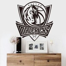 Free shiping home decoration Dallas Mavericks NBA American professional basketball team logo wall stickers living room bedroom